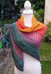 Knitting Pattern Triangular Scarf  U0026quot Pumpkin U0026quot  Knitting