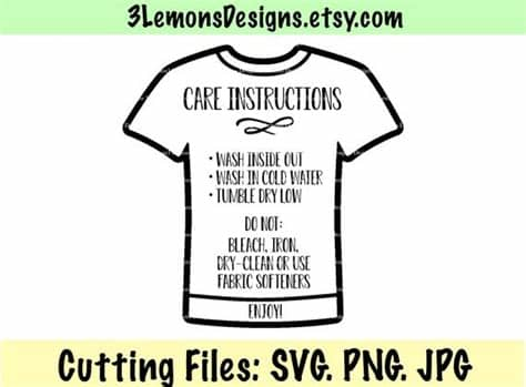 If you wish to use our design, it is only $3 per bundle/design/font for a commercial use (up to 500 physical products or for. Care card shirt clipart care card svg washing instructions ...