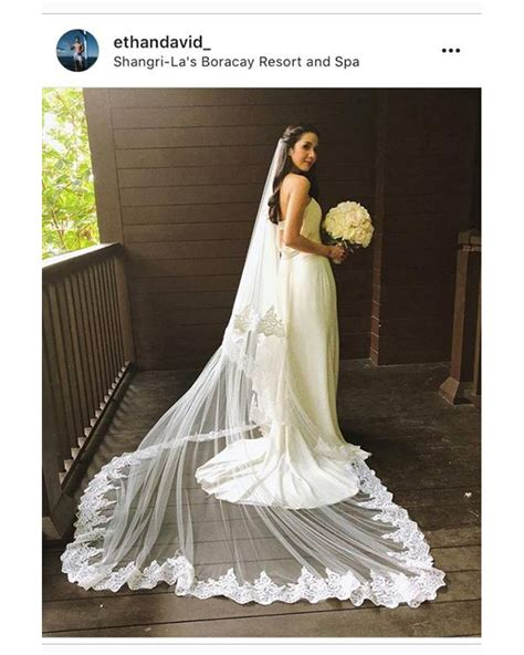 maxene magalona stuns   wedding   simple