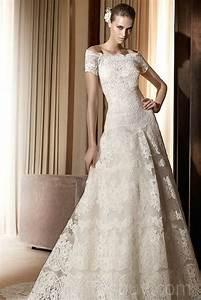 Vintage Lace Off The Shoulder Wedding Dresses | Sang Maestro