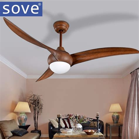 living room ceiling fans with lights aliexpress com buy 52 inch led brown dc 30w village