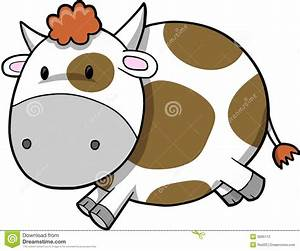 Cute Cow Vector Illustration Stock Photography - Image ...