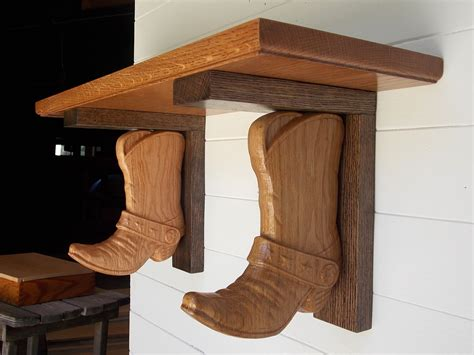 Corbels And Shelves by Western Wall Shelf Cowboy Boot Shelf Brackets Made From