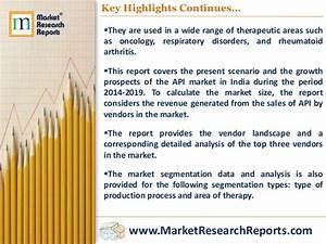 Active Pharmaceutical Ingredients  Api  Market In India