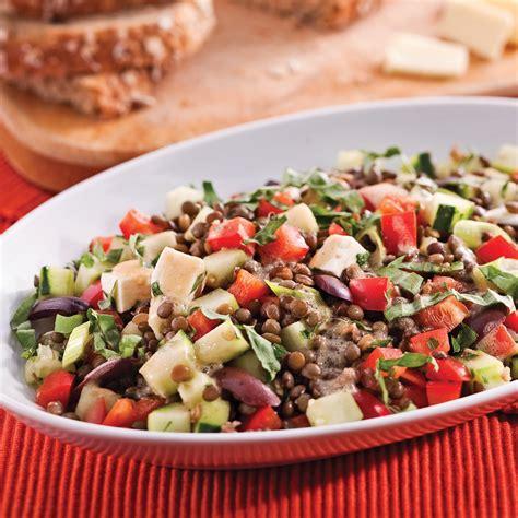 cuisine des lentilles salade de lentilles à la méditerranéenne recettes