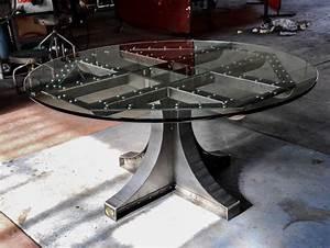 Table Basse Ronde Industrielle : 1001 id es meuble industriel une retraite d corative bien m rit e ~ Teatrodelosmanantiales.com Idées de Décoration