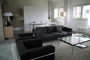 photo loft et table de salon deco photo decofr With tapis exterieur avec www canape fauteuil com