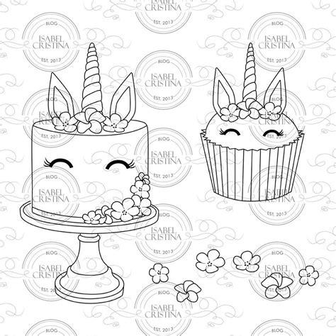 unicorn cake isabelcristinastamp  isabelcristinastamps  etsy studio