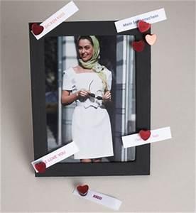 Bilderrahmen Mit Sprüchen : geschenkidee f r valentinstag bastelidee bilderrahmen mit magnetfarbe basteln und selber ~ Markanthonyermac.com Haus und Dekorationen