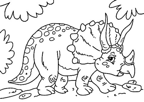 dino coloring pages triceratops dinosaur coloring pages for