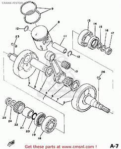 Yamaha Dt125 1978 Usa Crank-piston