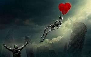 Romantically, Apocalyptic, Vitaly, S, Alexius, Skyscraper, Balloons, Skeleton, Gas, Masks, Artwork
