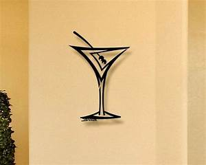 straight martini 3d metal wall art home decor With kitchen cabinets lowes with tree of life metal wall art sculptures