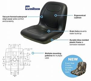 New Camo High Back Seat W   Arm Rests Simplicity Zero Turn