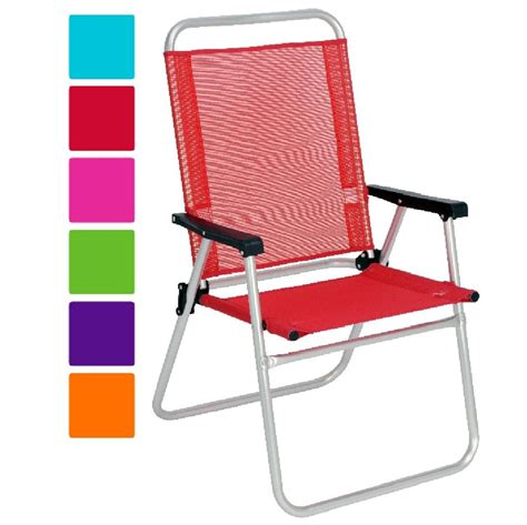 new aluminium high back folding chair garden patio