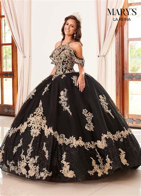 lareina quinceanera dresses style mq  blackgold