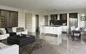 Wohnzimmer Mit Küche Ideen : modernes wohnzimmer einrichten wohn und k chenraum kombinieren ~ Markanthonyermac.com Haus und Dekorationen