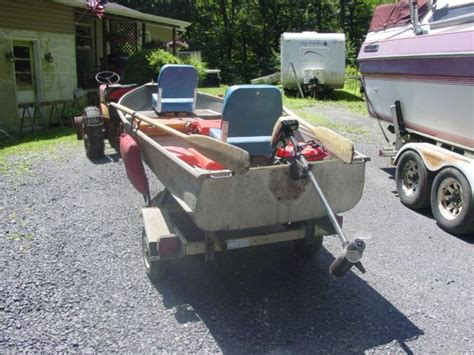 Fishing Boat Motor And Trailer by 12 Foot Barracuda Aluminum V Fishing Boat With Trailer And