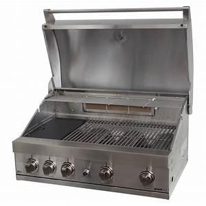 Four à Gaz Encastrable : grandhall elite gti4 inox built in barbecue gaz ~ Premium-room.com Idées de Décoration