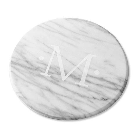monogrammed marble lazy susan in marble lazy susan in white lillian vernon