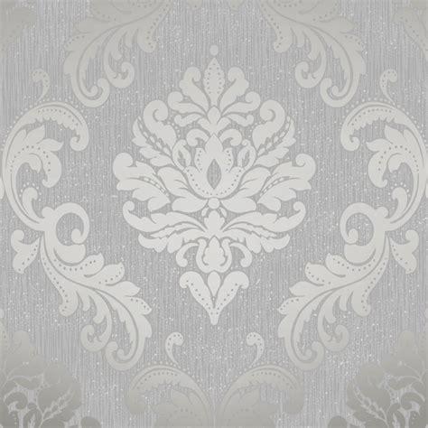 henderson interiors chelsea glitter damask wallpaper grey silver h980504 wallpaper
