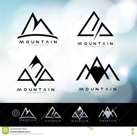 mountain logo vintage stock vector illustration  brand
