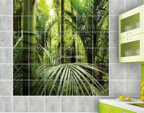 carrelage salle de bain decor bambou