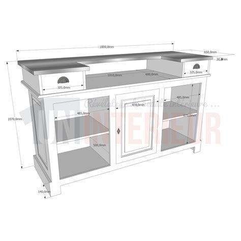 meuble cuisine gris anthracite meuble comptoir bar 180cm pin zinc