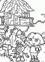 Coloring Tree Pages Treehouse Colouring Magic Boomhutten Fun Kleurplaat Dora Explorer Fairy Kleurplaten Popular Village Pdf Scene Zo Template Coloringhome sketch template