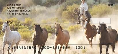 Checks Horse Western Roundup Southwest 123cheapchecks