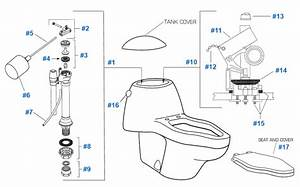 American Standard Toilet Repair Parts For Platner Series