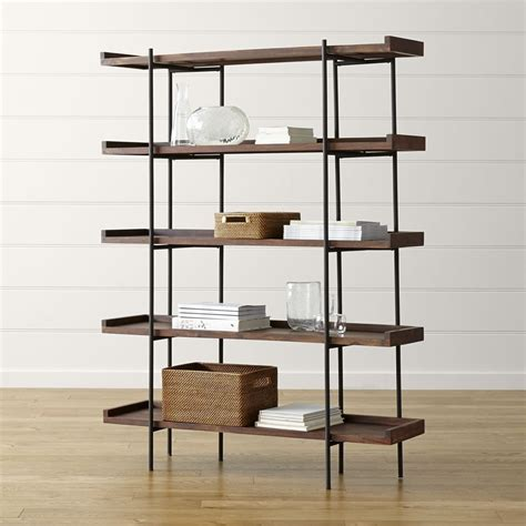 iron and wood bookcase wrought iron and wood shelves shelves