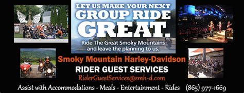 smoky mountain harley davidson shed events luxbury inn attractions