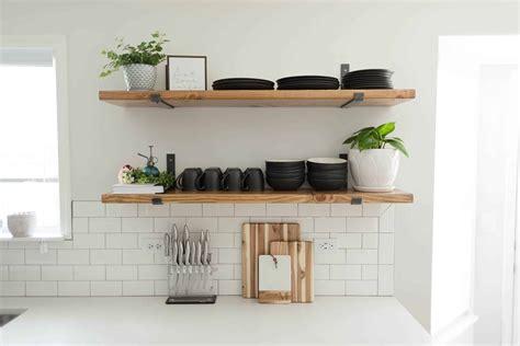 kitchen shelving ideas  wont break  bank