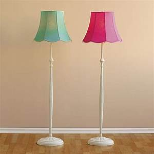 classic iron floor lamp scallop shade pbteen With floor lamp with scalloped shade