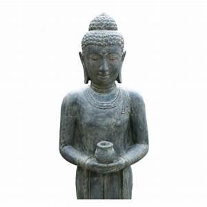 Buddha Figuren Garten Günstig : stehender buddha lavaguss figuren skulpturen garten japanwelt ~ Bigdaddyawards.com Haus und Dekorationen
