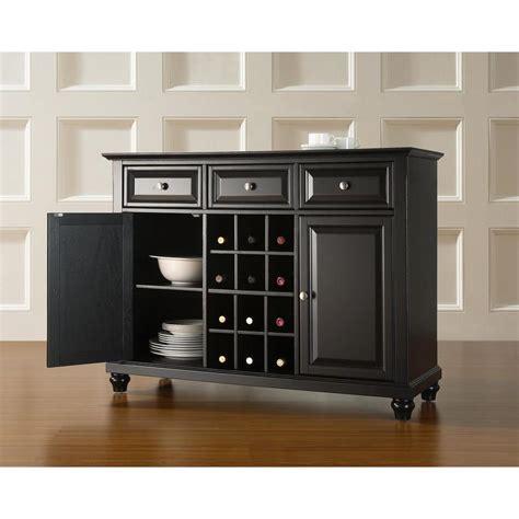Black Sideboard Buffet by Crosley Cambridge Black Buffet Kf42001dbk The Home Depot