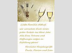 Beispiele für Neujahrsgrüße Grüße zum Neuen Jahr