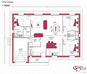 plan maison moderne 100m2 mam menuiserie With plan maison moderne 100m2
