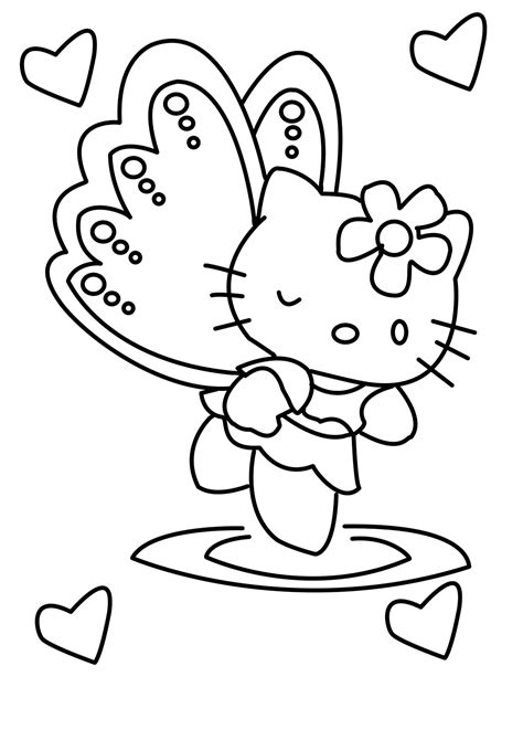 kitty girlie   coloring page  kids