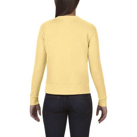 comfort colors butter cc1596 comfort colors crewneck sweatshirt butter
