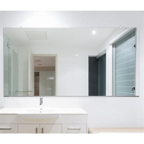 How To Install A Frameless Bathroom Mirror by Fab Glass And Mirror 48 In X 60 In Rectangle Frameless