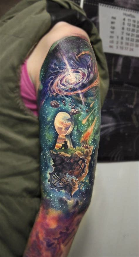 Colorful Sleeve Tattoos To Cheat The Eye Of The Viewer