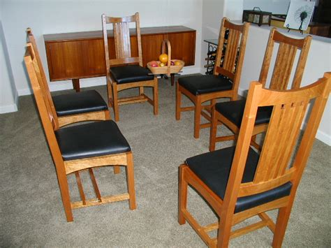 arts  crafts dining chairs finewoodworking