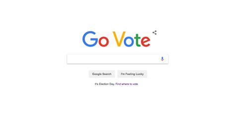 Google Homepage Urges Visitors To 'go Vote'