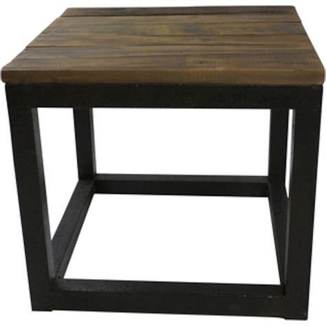 table bois et metal table basse carr 233 bois et m 233 tal