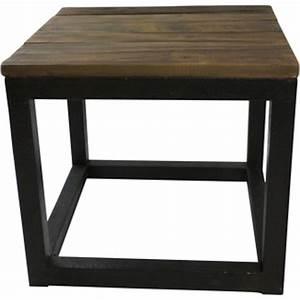 Table Basse Bois Et Metal : table basse carr bois et m tal ~ Dallasstarsshop.com Idées de Décoration