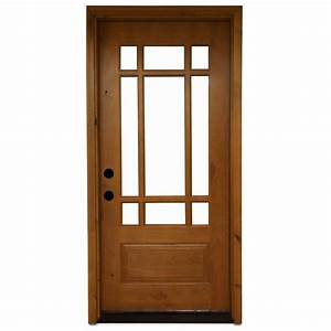 Steves & Sons 36 in. x 80 in. Craftsman 9 Lite Stained ...