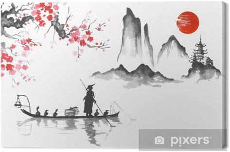 Asiatische Bilder Kunst by Leinwandbild Japan Traditionelle Japanische Malerei Sumi E