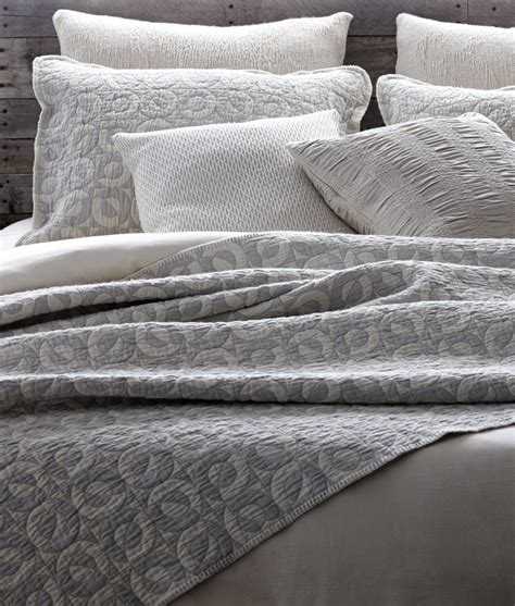 Grey Coverlet by Circling Circles Matelass 233 Coverlet The Oriole Mill